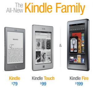 The Amazon Kindle family